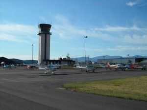The Air Traffic Control Tower is co-located with the Airport's General Aviation entities.